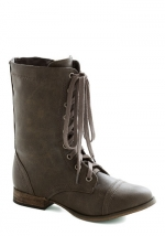 Mondays Motivator Boot in Stone at Modcloth
