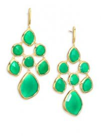 Monica Vinader - Siren Green Onyx Chandelier Earrings at Saks Fifth Avenue