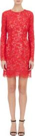 Monique Lhuillier Guipure Lace Cocktail Dress at Barneys