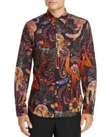 Monkey Print Slim Fit Button-Down Shirt by Paul Smith at Bloomingdales