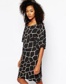 Monkey printed tshirt dress at Asos