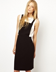 Monki  Monki Pinafore Dress at Asos