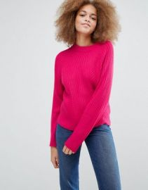 Monki Knitted Sweater With Rib at asos com at Asos