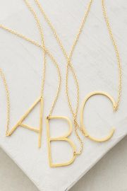 Monogram Pendant Necklace at Anthropologie