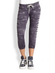 Monrow - Tie-Dye Cropped Sweatpants at Saks Fifth Avenue