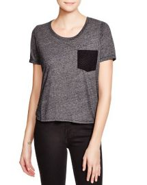 Monrow Eyelet Pocket Tee at Bloomingdales