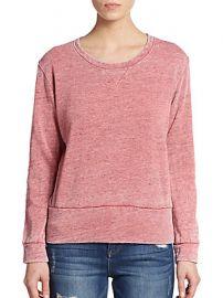 Monrow Vintage Crewneck Sweatshirt at Saks Off 5th