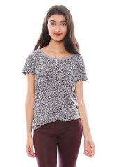 Monrow grey leopard tee at Singer 22