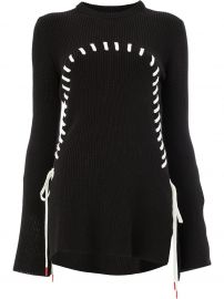 Monse Contrast Stitch Flared Jumper at Farfetch
