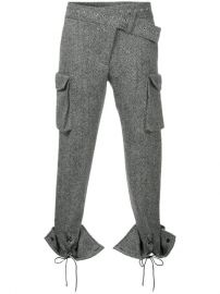 Monse Laced Cuffs Belt Detailed Trousers  1 290 - Buy AW17 Online - Fast Global Delivery  Price at Farfetch