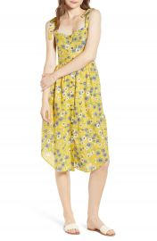 Moon River Floral Button Front Sundress at Nordstrom