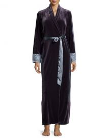 Moonlight Velvet Long Wrap Robe at Neiman Marcus