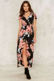 More Flower to Ya Wrap Dress at Nasty Gal