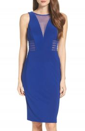 Morgan   Co  Illusion Midi Dress at Nordstrom