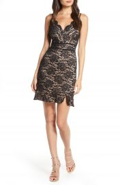 Morgan  amp  Co  Front Lace Sleeveless Cocktail Dress   Nordstrom at Nordstrom
