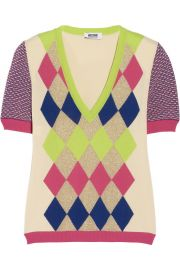Moschino Cheap and Chic Argyle Sweater at The Outnet