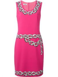 Moschino Cheap andamp Chic Chain Print Dress - at Farfetch