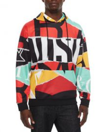 Moschino Multicolor Large Logo-Print Hoodie Multi at Neiman Marcus