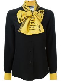 Moschino Ruler Pussybow Blouse - at Farfetch