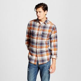 Mossimo Supply Co Flannel Button Down Orange at Target