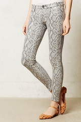 Mother looker skinny jeans in rattlesnake at Anthropologie