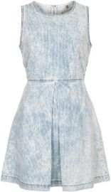 Moto Denim Dress at Topshop