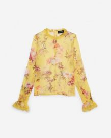 Moulin Jaune Silk Top by The Kooples at The Kooples