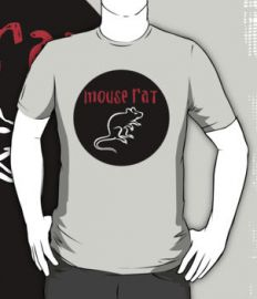 Mouse Rat tee at Red Bubble