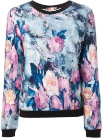 Msgm Floral Print Sweatshirt - Smets at Farfetch