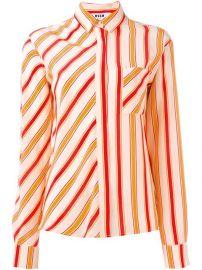Msgm Striped Shirt  - Biffi at Farfetch