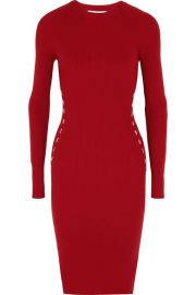 Mugler Embellished ribbed-knit dress  at Net A Porter