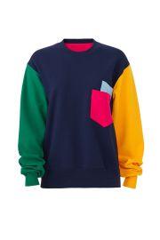 Multi Colorblock Sweatshirt at Rent The Runway