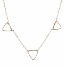 Multi Geometric Shape Necklace by Peggy Li at Bottica