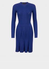 Multi-Stitch Flare Knit Dress by Versace at Versace