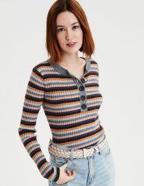 Multi Stripe Pullover Sweater at American Eagle