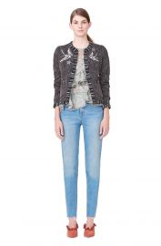 Multi Tweed Bird Embellished Jacket   Rebecca Taylor at Rebecca Taylor