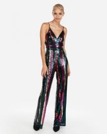 Multicolor Sequin Jumpsuit at Express