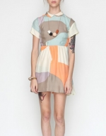 Multicolored collared dress at Needsupply