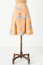 Multipanel plume skirt at Anthropologie