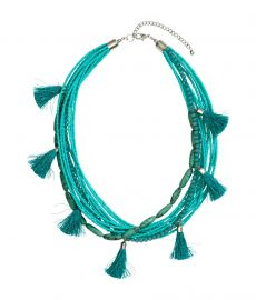 Multistrand Necklace Turquoise at H&M