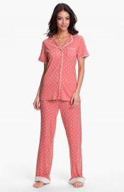 Munki Munki Short Sleeve Knit Pajamas  at Nordstrom