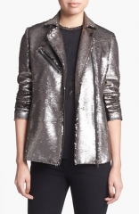 Mural Sequin Bomber Jacket at Nordstrom