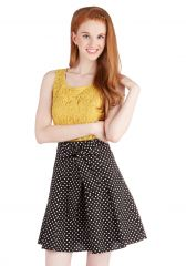 Musee Matisse Skirt in Black Dots at ModCloth