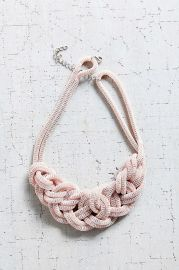 Museum Walls Knotted Necklace in Pink at Urban Outfitters