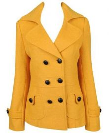 Mustard Peacoat at Forever 21