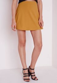 Mustard Skirt at Missguided