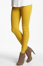 Mustard yellow skinny jeggings at Nordstrom