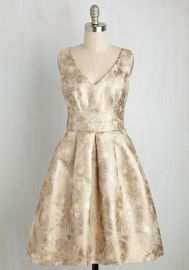 My Gift to You Dress in Gold at ModCloth
