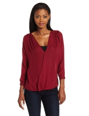 Myne Crossover blouse in Berry at Amazon