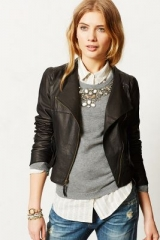 Mysa Leather Jacket at Anthropologie